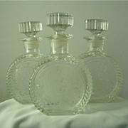 Paden CIty Glades Decanters - Spring Orchard Etch