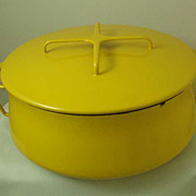 Dansk Yellow Kobenstyle Large Casserole