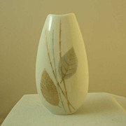 Thomas China Miniature Vase - Leaves & Bamboo