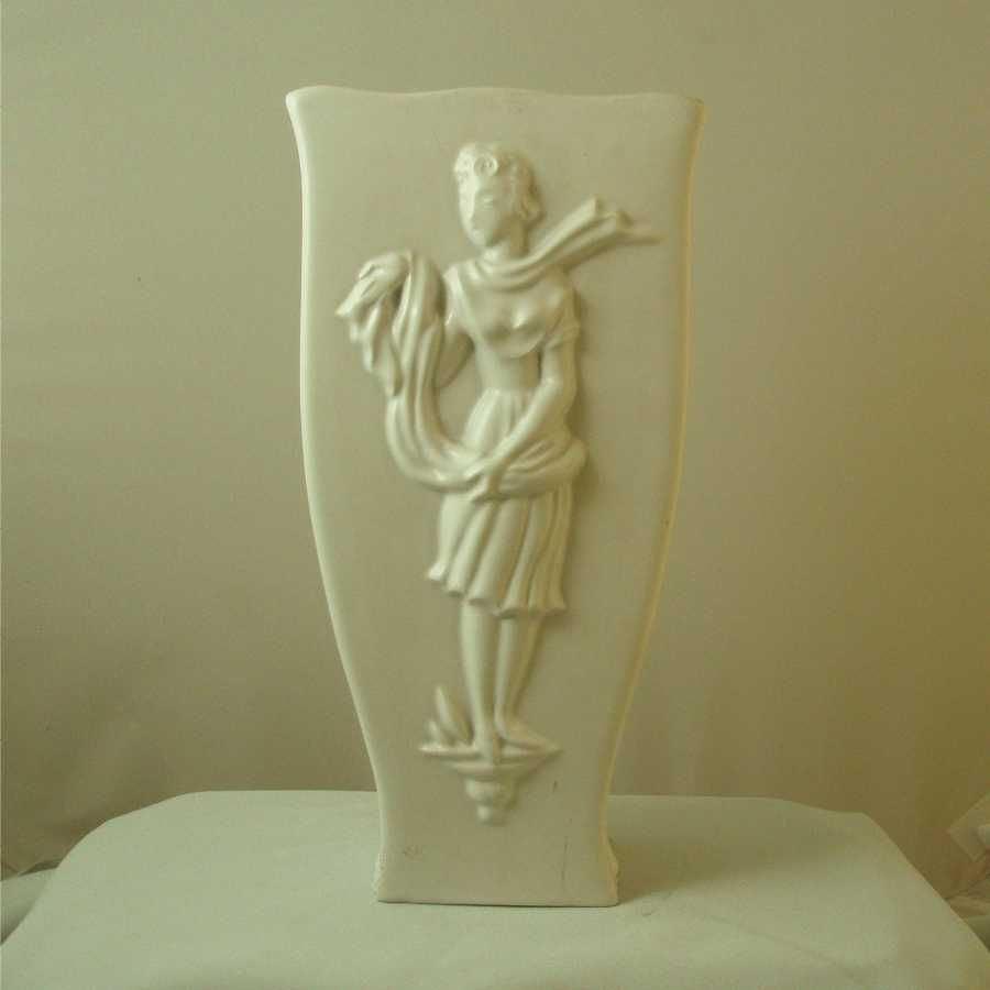 Vally Wieselthier General Ceramics White Art Deco Vase