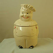 American Bisque Starburst Chef Cookie Jar