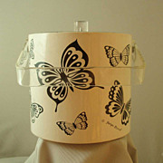 Georges Briard Black & White Butterfly Ice Bucket