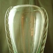 Blenko Marine Crystal W491 Flanged Vase