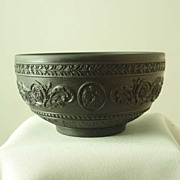 Wedgwood Black Basalt Arabesque Bowl
