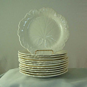 Wedgwood Queens Ware Geranium Leaf Dessert Plates