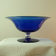 HC Fry Royal Blue Console Bowl with Swirl Connector