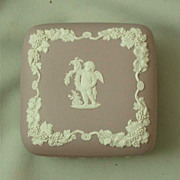Wedgwood Lilac Jasper Ware Square Box