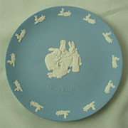 Wedgwood Light Blue Jasper Ware Peter Rabbit Plate