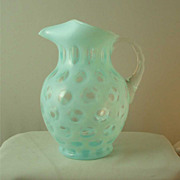 Fenton French Opalescent Coin Dot Ice Lip Jug