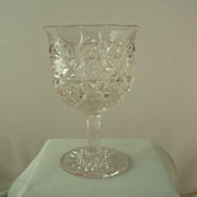 Westmoreland Old Quilt Crystal Goblet