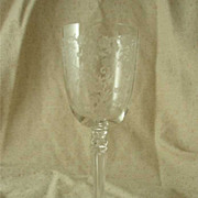 Fostoria Buttercup Etched Water Goblet