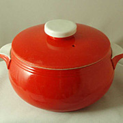 Hall China Chinese Red Casserole