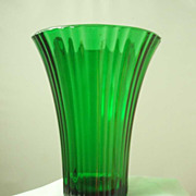 Anchor Hocking Old Cafe Forest Green Vase