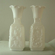 Vallerysthal Mephistopheles Milk Glass Vase