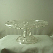 Indiana Glass Gaelic Cake Stand