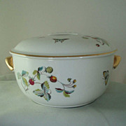Royal Worcester Strawberry Fair Round Covered Casserole