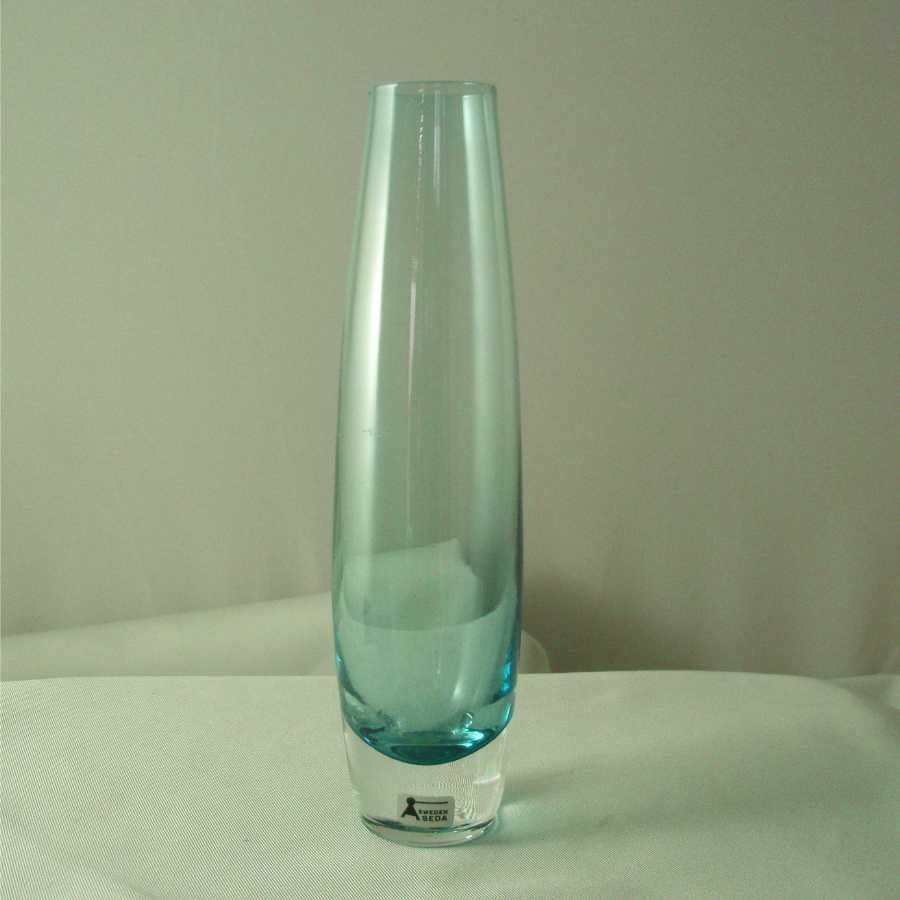 Aseda Blue and Crystal Bud Vase