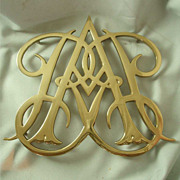 Virginia Metalcrafters Williamsburg Restoration Queen Anne Cypher Trivet