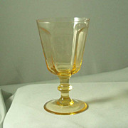Lenox Antique Yellow Wine Glasses