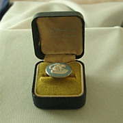 Wedgwood Light Blue Jasper Ware & Sterling Ring