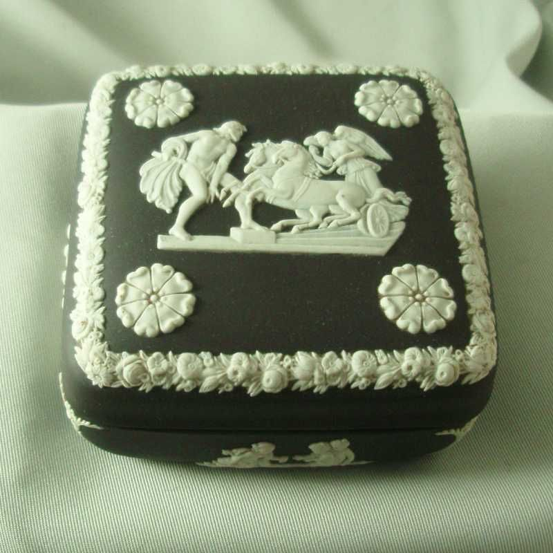 Wedgwood Black Jasper Ware Square Box