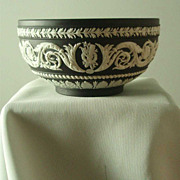 Wedgwood Black Jasper Ware Arabesque Bowl