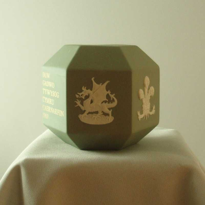 Wedgwood Sage Green Jasper Ware Investiture Bank