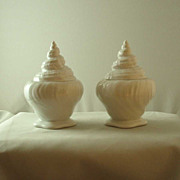 Royal Copenhagen Shell-Form Lidded Jars - Pair