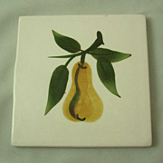 Stangl Sculptured Fruit Tile Trivet