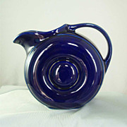 Hall China Cobalt Blue Donut Pitcher