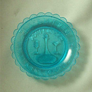 Pairpoint Blue Dorflinger Museum Cup Plate