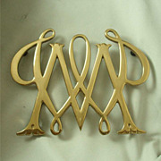 Virginia Metalcrafters Williamsburg Restoration William & Mary Cypher Trivet