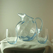 Cambridge Moonlight Blue Gyro Optic Pitcher Set
