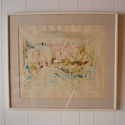 Alfred Birdsey Abstract Bahamas Watercolor