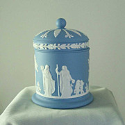 Wedgwood Light Blue Jasper Ware Covered Jar