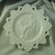 Westmoreland Specialty Company Milk Glass Venus & Cupid Plate