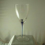 Orrefors Intermezzo Blue Goblet