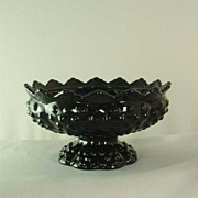 Fenton Black Hobnail Centerpiece Candle Holder