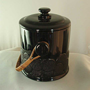 "Fenton Black ""Big Cookies"" Biscuit Jar"
