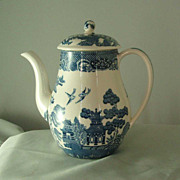 Wedgwood Blue Willow Coffee Pot