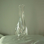 Vintage St Louis Crystal Flora Vase