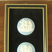 Wedgwood Light Blue Jasper Ware - Three Framed Medallions