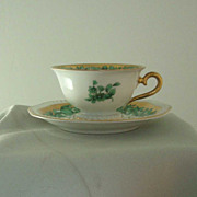 Rosenthal Green & Gold Demitasse Cup