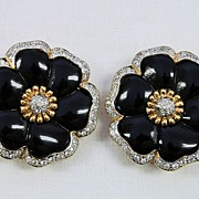Pair of Italian Clip Earrings by Vogue Bijoux