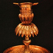 Persian copper oil lamp