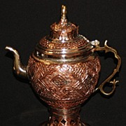SOLD Kashmiri Copper Samovar Kettle