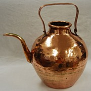Spherical Copper Teapot