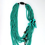 SOLD Angela Caputi Turquoise Necklace for Giuggiu
