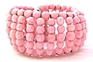 Wired Pink Glass Beaded Wrap Bracelet