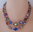 2-Strand Multicolor Aurora Borealis Crystal Bead Necklace